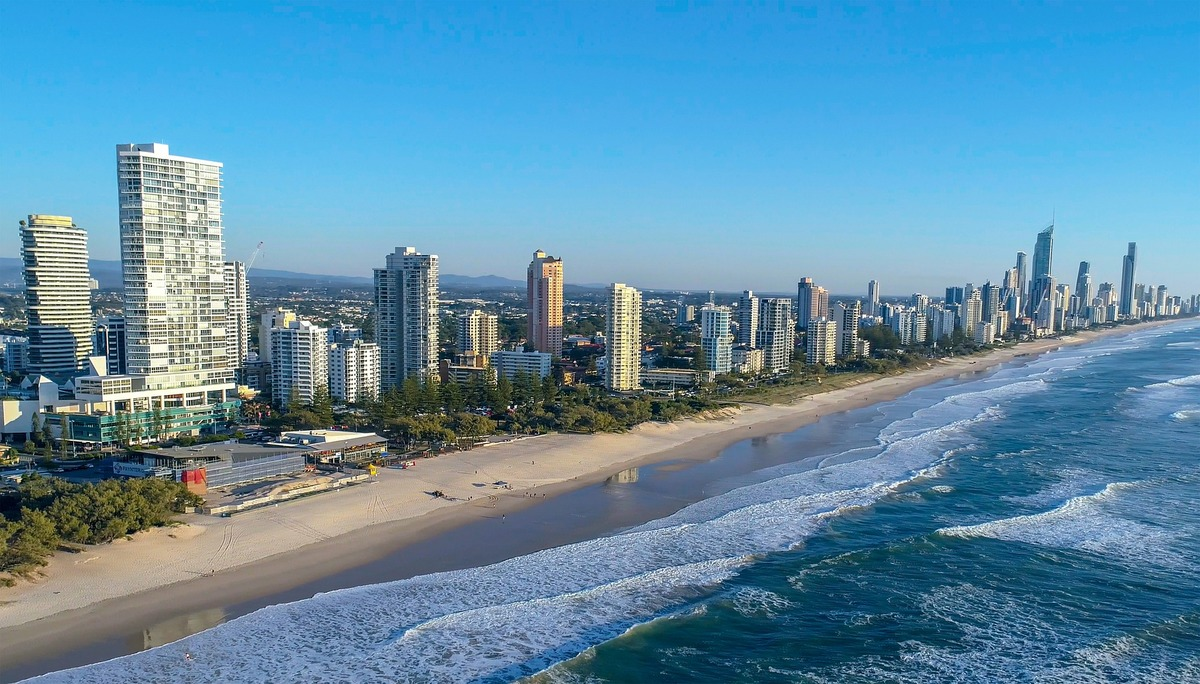 The Gold Coast in Queensland, Australia.